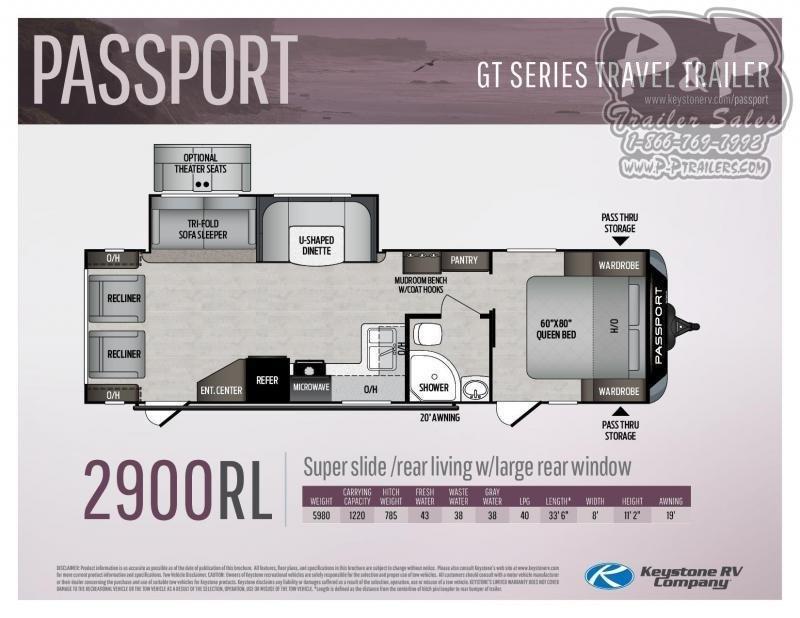 2021 Keystone RV Passport 2900RL 33 Travel Trailer RV
