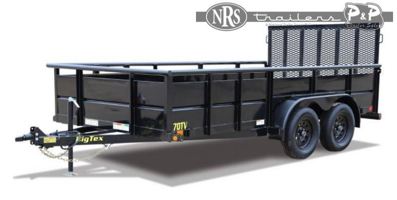 2021 Big Tex Trailers 70TV-14BK Tandem Axle Vanguard 14 ' Utility Trailer