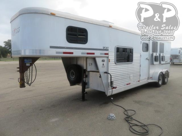 2005 Exiss Trailers 7307 3 Horse Slant Load Trailer 7 FT LQ