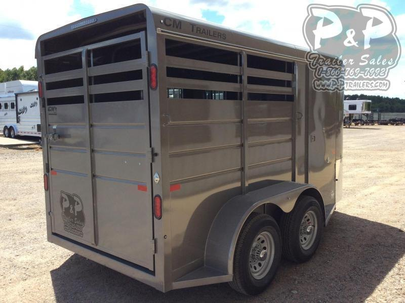 2021 CM CMH-0832-14 2 Horse Slant Load Trailer