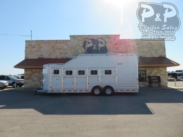 2020 Platinum Coach 85BP PC Load 5 Horse Slant Load Trailer w/ Ramps