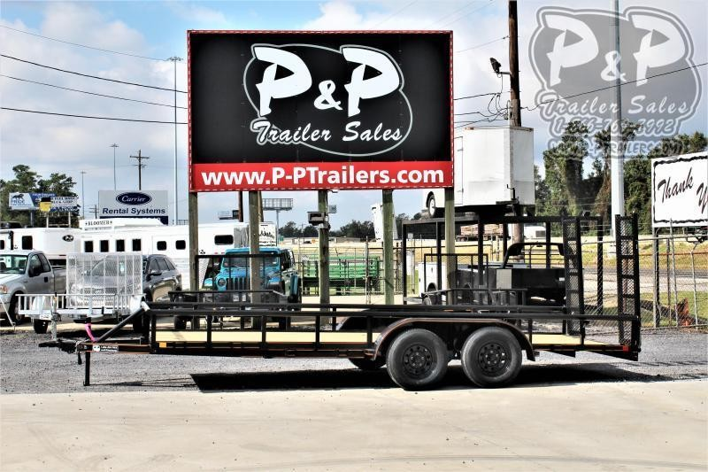 """2021 P and P PPTA18X83GDFURPT 83"""" x 18 ' Utility Trailer"""