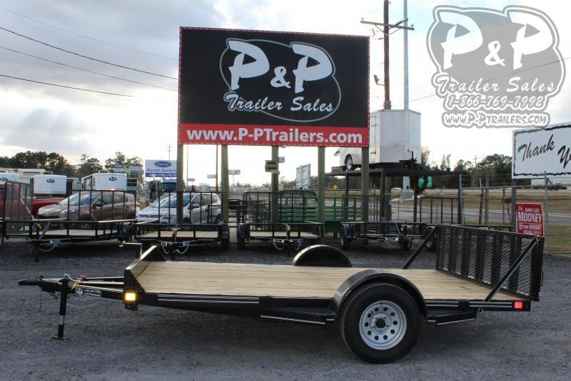 "2021 P and P PPEQ12x83LDTG 83 x 144 "" Utility Trailer"