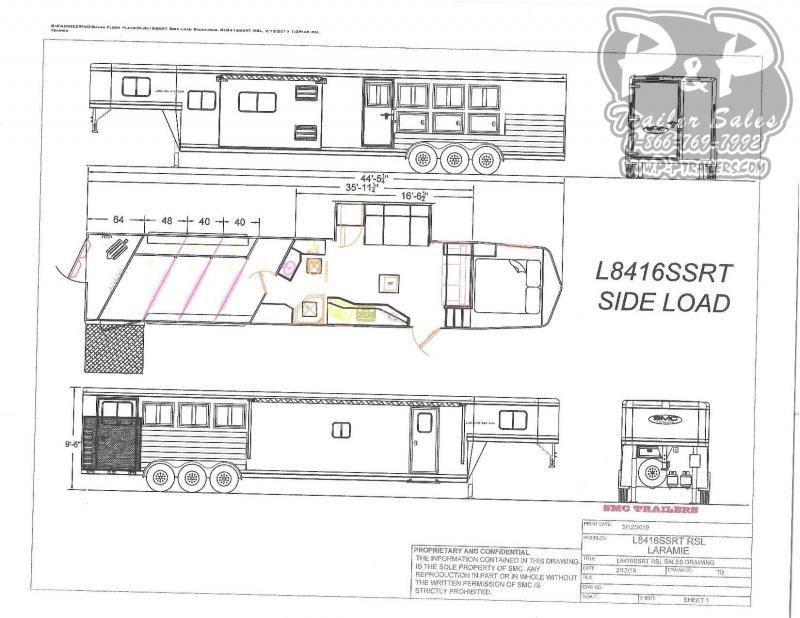 2021 SMC Horse Trailers SL8416SSRTRSL 4 Horse Slant Load Trailer 16 FT LQ With Slides