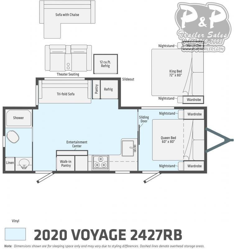 2021 Winnebago Voyage 2427RB 27 ' Travel Trailer RV