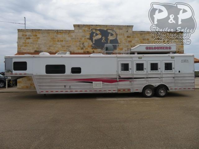 2008 Bloomer 8416 Champion Conversion 4 Horse Slant Load Trailer 16 FT LQ w/ Ramps