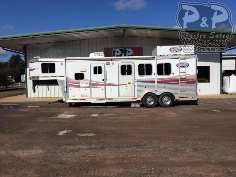 2008 Lakota 7308 3 Horse Slant Load Trailer 0 FT LQ