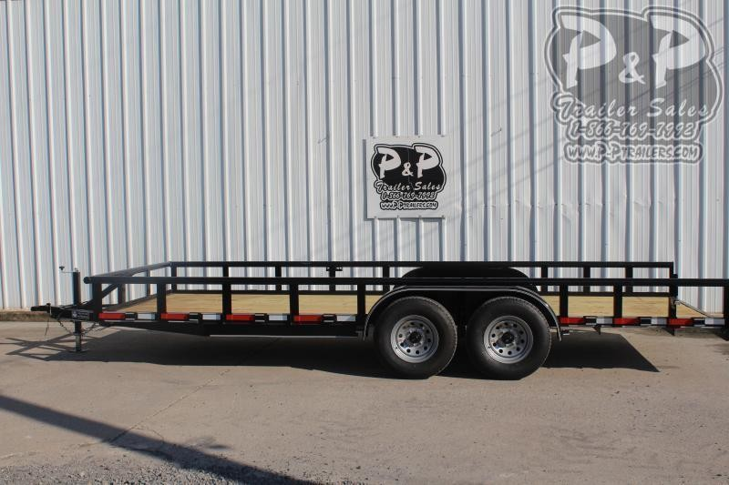 "2021 P and P PPTA20x83MDSRPT 83"" x 20 ' Utility Trailer"