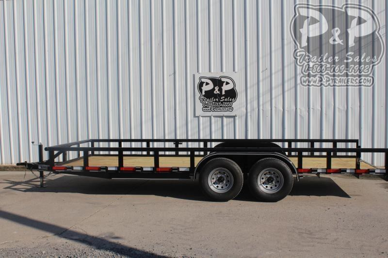 """2021 P and P PPTA20x83MDSRPT 83"""" x 20 ' Utility Trailer"""