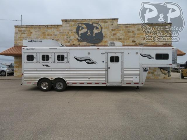 2018 Platinum Coach 8311 3 Horse Slant Load Trailer 11 FT LQ