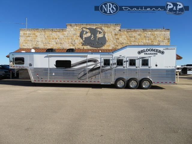 2021 Bloomer 8418PCOLSR Outlaw Conversions 4 Horse Slant Load Trailer 18 FT LQ w/ Slideout