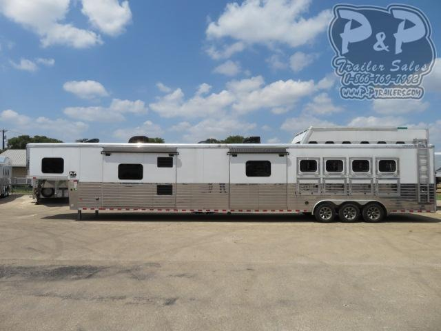 2017 Sundowner Trailers Circuit Series 4 Horse Slant Load Trailer 27 FT LQ With Slides w/ Ramps