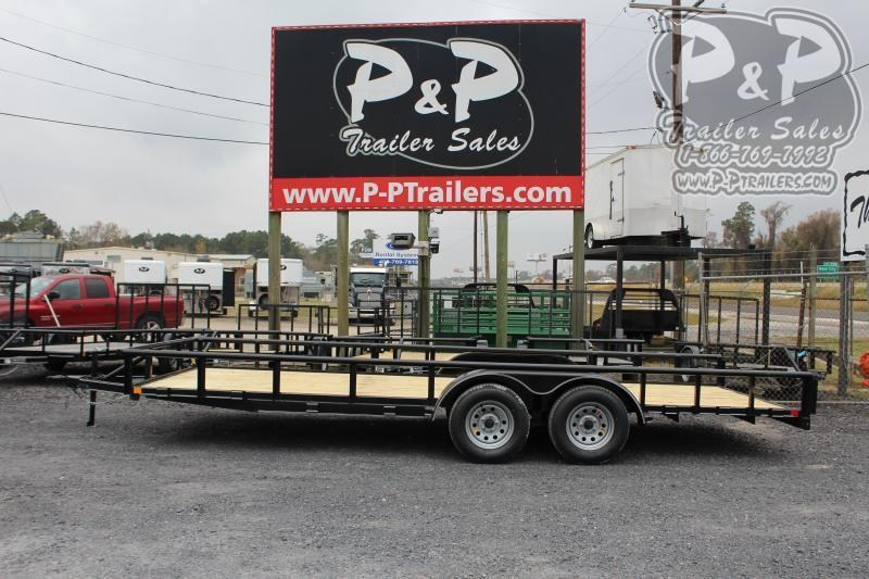 "2021 P and P PPTA20X83GDSRPT 83"" x 20 ' Utility Trailer"
