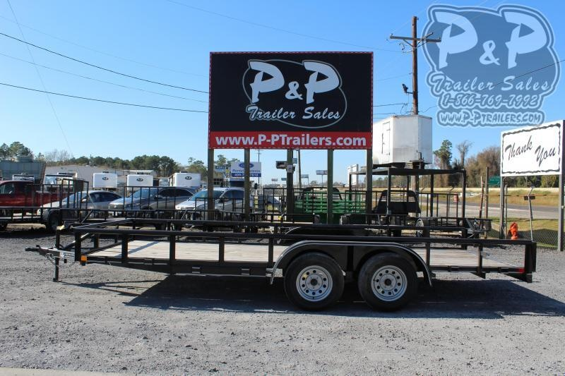 """2021 P and P PPTA18X83GDSRPT 83"""" x 18 ' Utility Trailer"""