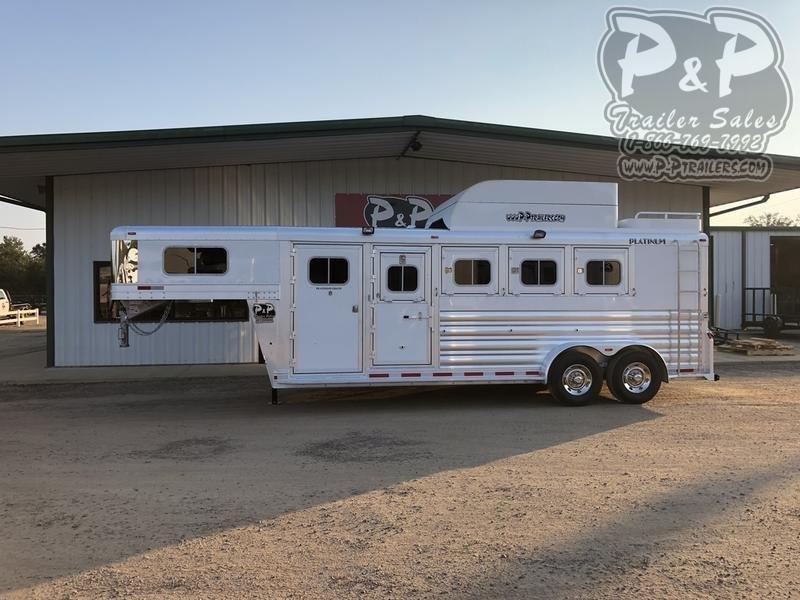 2021 Platinum Coach 74STGN 4 Horse Slant Load Trailer