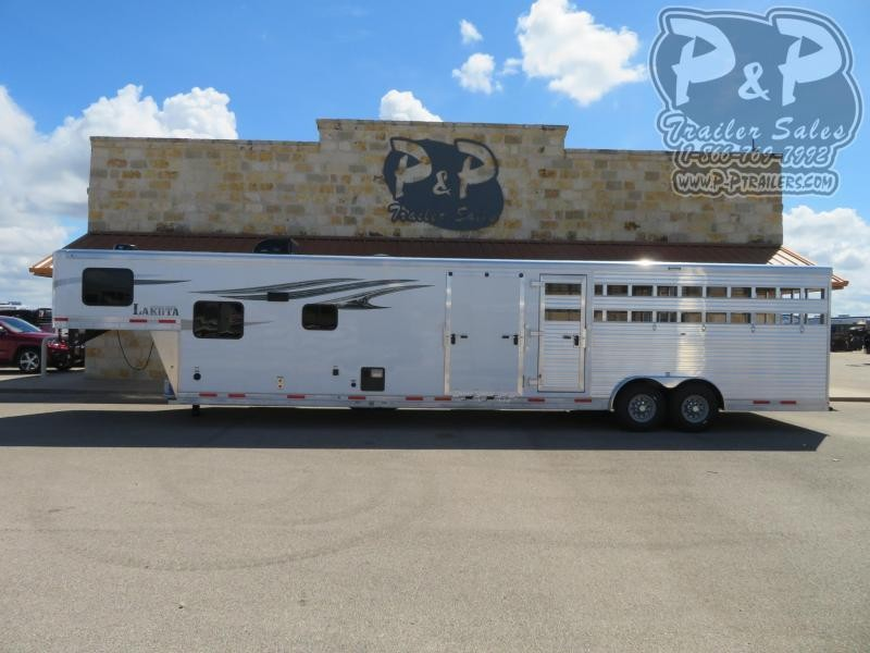2020 Lakota Charger LE81611 34 ft Livestock Trailer LQ