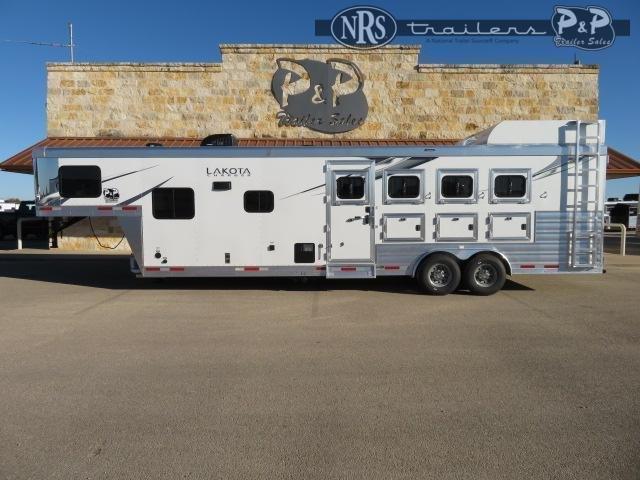 2022 Lakota Charger C8411SRNS 4 Horse Slant Load Trailer 11 FT LQ