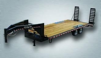 2021 Quality 24' Gooseneck (20' + 4' Pop Up Dovetail) Professional 17000# GVW
