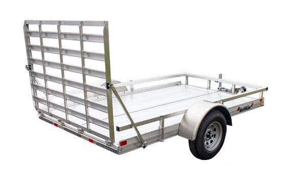 2021 Triton Trailers FIT1072 Utility Trailer w/ Regular Ramp and Aluminum Wheels