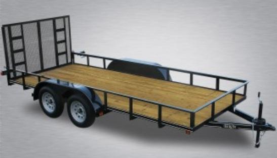 "2021 Quality 77"" x 16 Tandem Axle Landscape Trailer Economy"