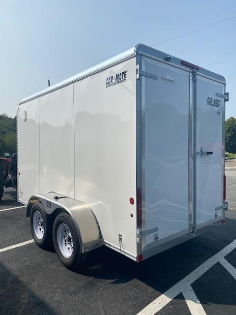 2021 Car Mate Trailers CM612CC-HD Enclosed Cargo Trailer With Barn Doors White