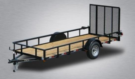 2021 Quality 6 x 14 Single Axle Landscape Trailer General Duty
