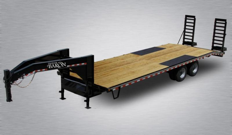 2021 Quality 25' Gooseneck (20' + 5' Dovetail) Professional Tandem Dually 25000# GVW w/ Pop-Up Tail