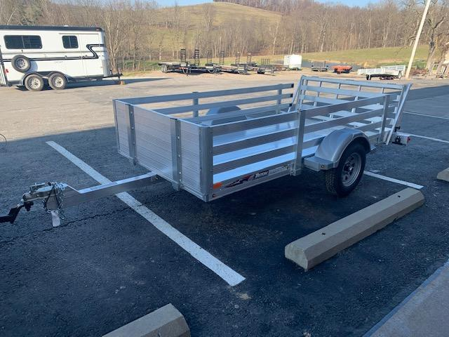2021 Triton Trailers AUT1064 Utility Trailer w/ Bi-Fold Ramp and Fence Rail Side Kit