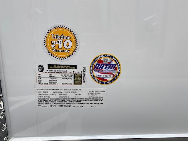 2021 Car Mate Trailers CM612CC -6'W Single Axle Custom Cargo Trailer - BLACK W/ RAMP DOOR