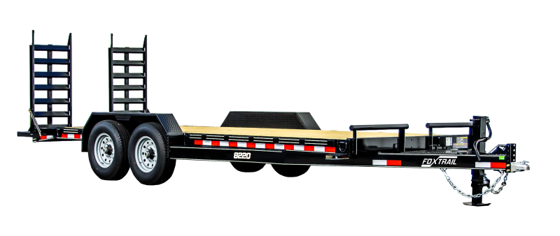 """2021 Fox Trail 84"""" Wide 9990 lbs GVWR Equipment Trailer"""
