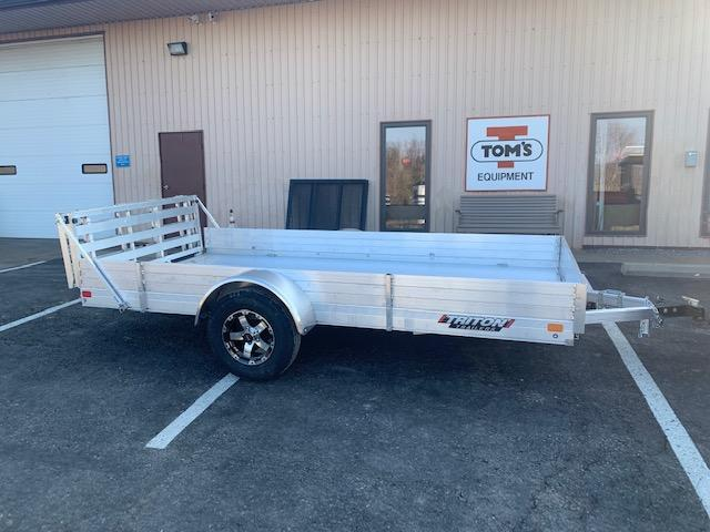"2021 Triton Trailers FIT1272 Utility Trailer w/ 9"" Solid Side Kit - Bi-Fold Ramp and Aluminum Wheels"