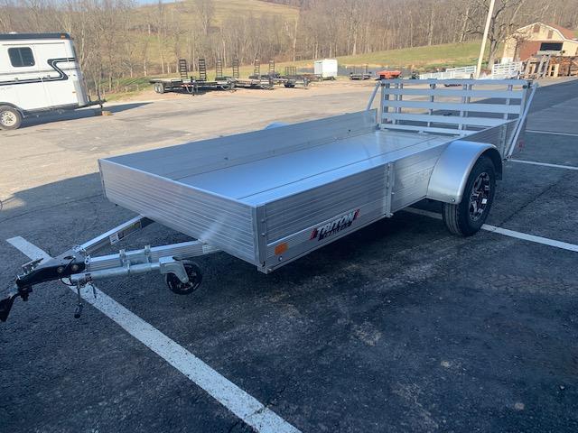 "2021 Triton Trailers FIT1272 Utility Trailer w/ 9"" Solid Side Kit - Bi-Fold Ramp and Aluminum Wheels"