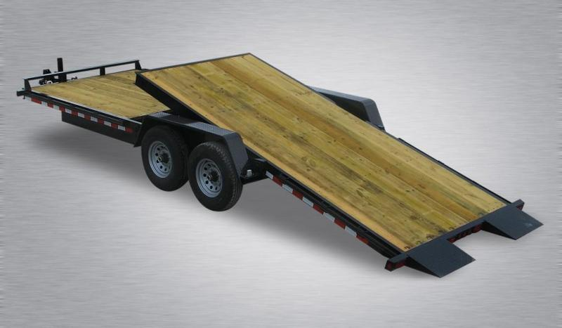 2021 Quality Professional Grade 20' 15K Wood Deck Tilt Equipment Hauler