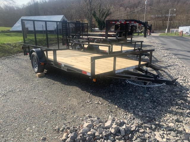 2021 Quality 6 x 14 Single Axle Landscape Trailer PRO w/ ATV SIDE RAMPS