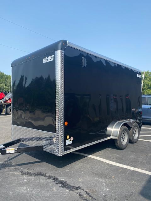 2021 Car Mate Trailers CM714CC-HD - 7'W Tandem Axle Custom Cargo Enclosed Trailer BLACK - UTV SPECIAL