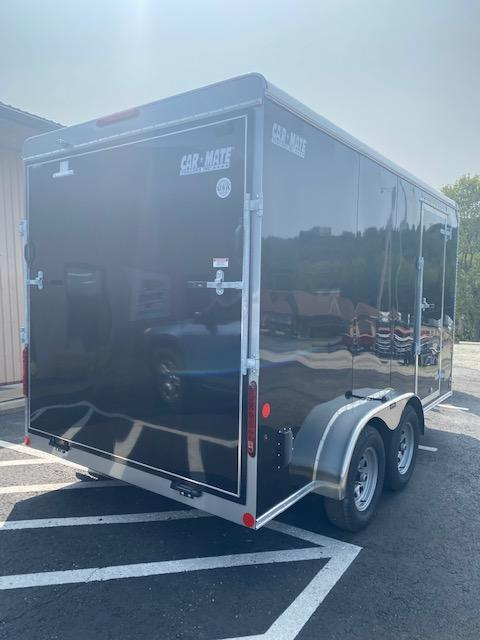 2021 Car Mate Trailers CM714CC-HD - 7'W Tandem Axle Custom Cargo Enclosed Trailer BLACK - UTV SPECIAL