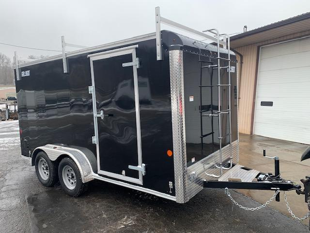 2021 Car Mate Trailers CM714CC-HD/CTR - 7'W Tandem Axle Custom Cargo Contractor Trailer Enclosed Cargo Trailer