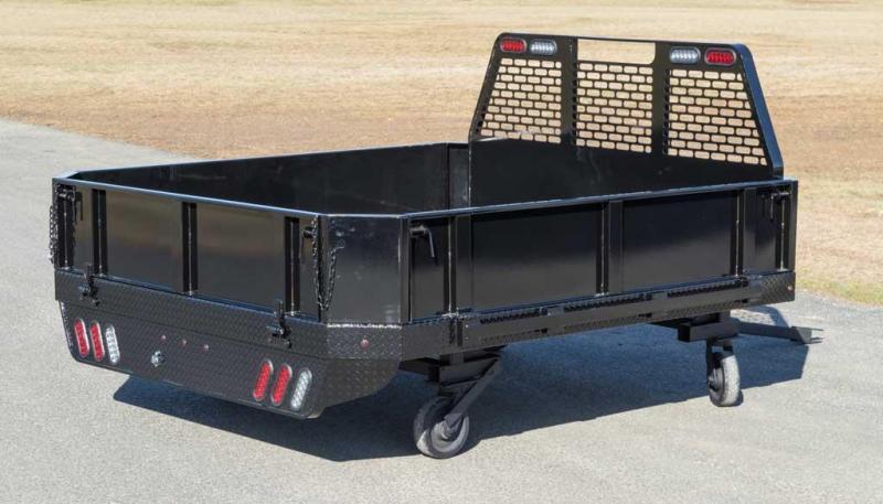 """2019 SH Truck Bodies 84"""" W X 8'6"""" Single Wheel Steel Truck Bed"""