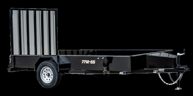 2021 Fox Trail 770 Series 12' Single Axle Utility Trailer
