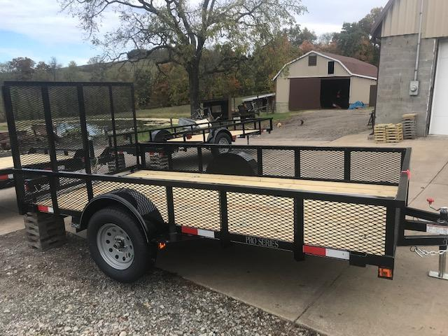 2021 Quality 6 x 12 Single Axle Landscape Trailer PRO w/ MESH SIDES