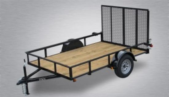 2021 Quality 5 x 10 Single Axle Landscape Trailer Economy