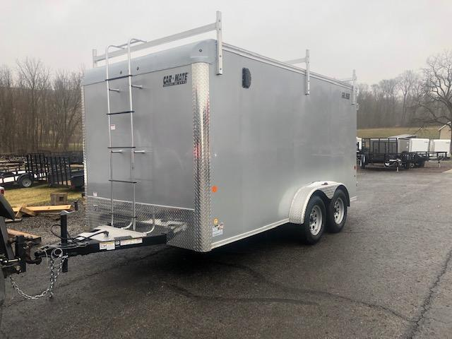 2020 Car Mate Trailers CM714CC-HD/CTR - 7'W Tandem Axle Custom Cargo Contractor Trailer Enclosed Cargo Trailer