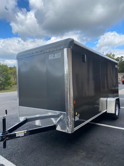 2021 Car Mate Trailers CM614CC -6'W Single Axle Custom Cargo Trailer W/ REAR RAMP DOOR