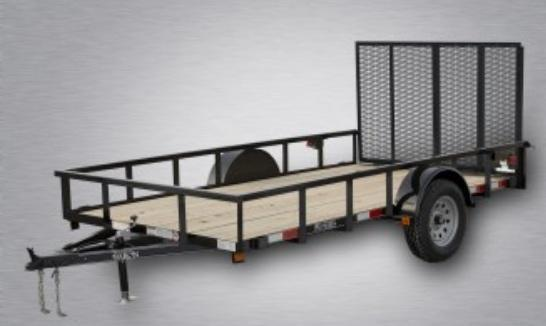 "2021 Quality 77"" x 12 Single Axle Landscape Trailer PRO"