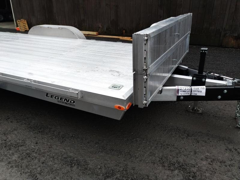 Legend Trailer Aluminum Open Car Trailer 7X18OCH
