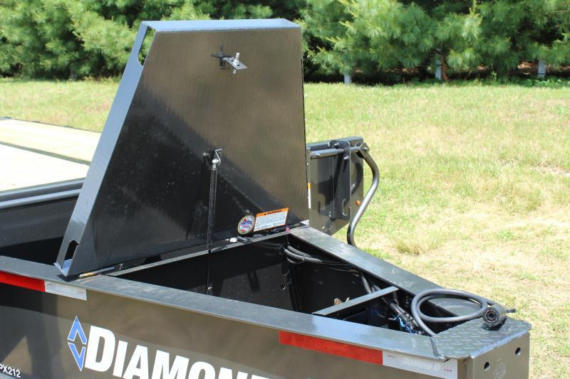 "Diamond C Trailers PX212 Deckover Trailer 102""x25"