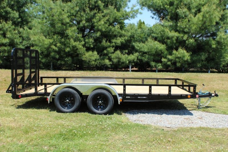 "PJ Trailers 83"" x 16'  Tandem Axle (UL)  Utility Trailer"