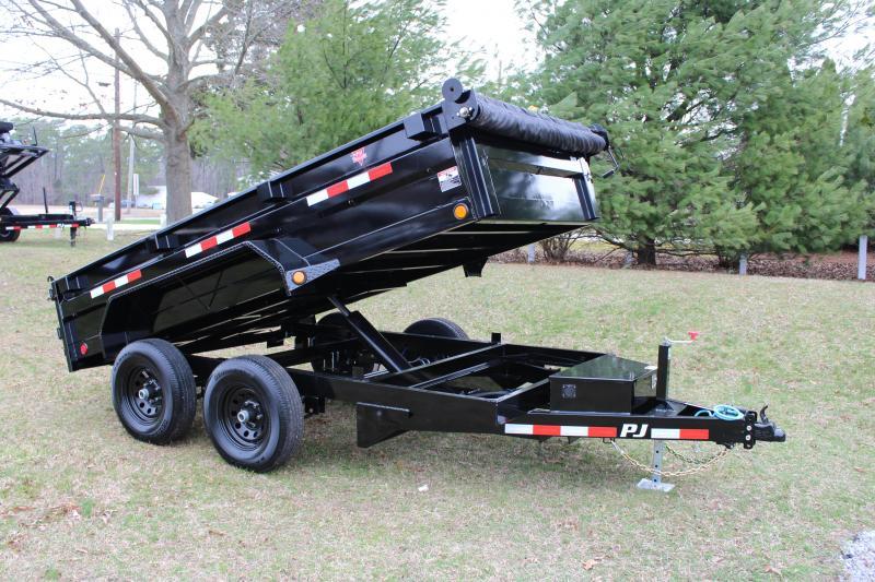 """PJ Trailers 72"""" Tandem Axle Dump (D3) 12'"""