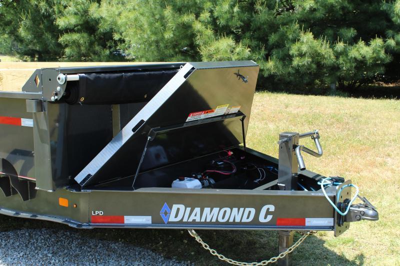 "Diamond C Trailers 81""X16 LPD Dump Trailer"