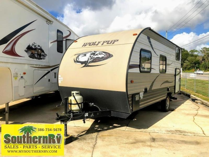 2015 Forest River Wolf Pup 16BHS BUNKHOUSE Travel Trailer RV